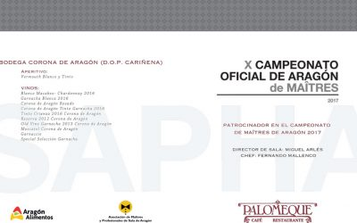 Carta para toma de la comanda. Campeonato de Maîtres de Aragón