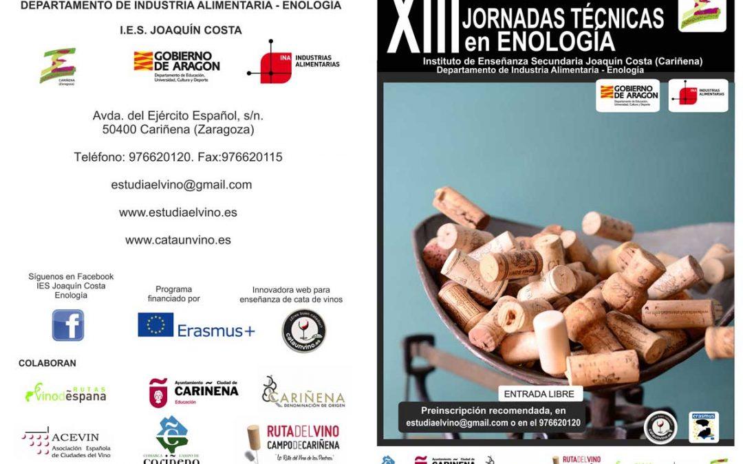 XIII Jornadas técnicas de enología IES Joaquín Costa de Cariñena.
